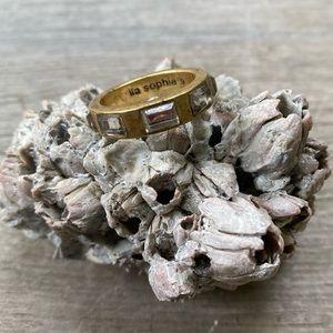 Lia Sophia Gold Tone Ring